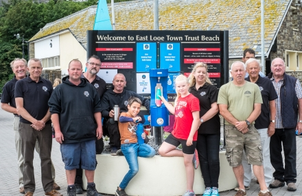 Water Fountain at East Looe Town Town Beach: Re-Filling Water Containers