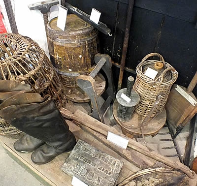 Display of Fisherman's gear