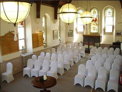 The Guildhall Chamber arranged for a wedding