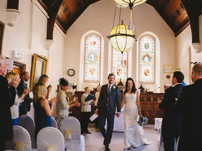 A Wedding in the Guildhall Chamber. (Image by courtesy of Barney Walters Photography)