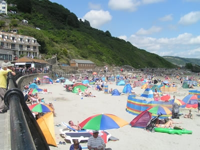 East Looe Beach viewed from the Promenade
