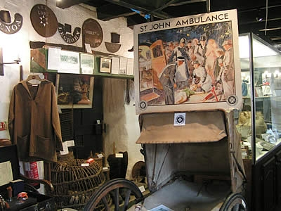 St John's Ambulance display at the museum