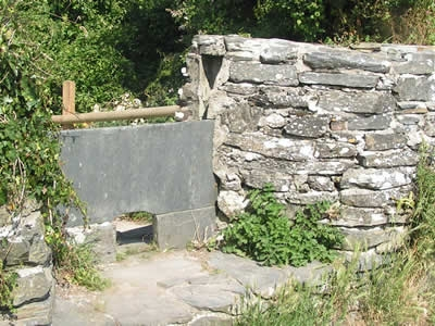 The stile rebuilt by John Grimer in 1988