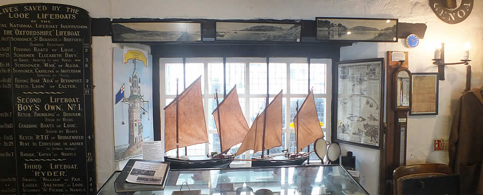 The Museum in Looe holds a fascinating array of exhibits covering the social and economic history of Looe from early times to the present day